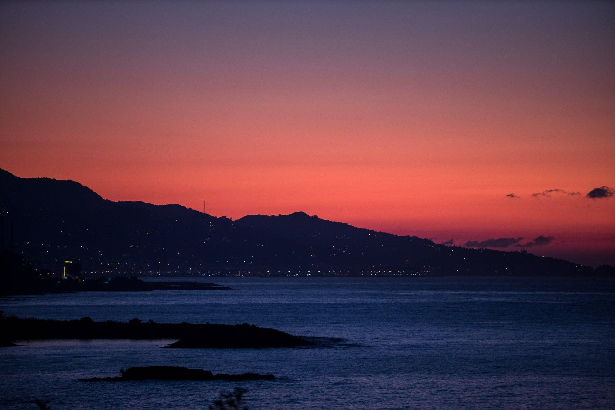 nightfall near Cavuslu