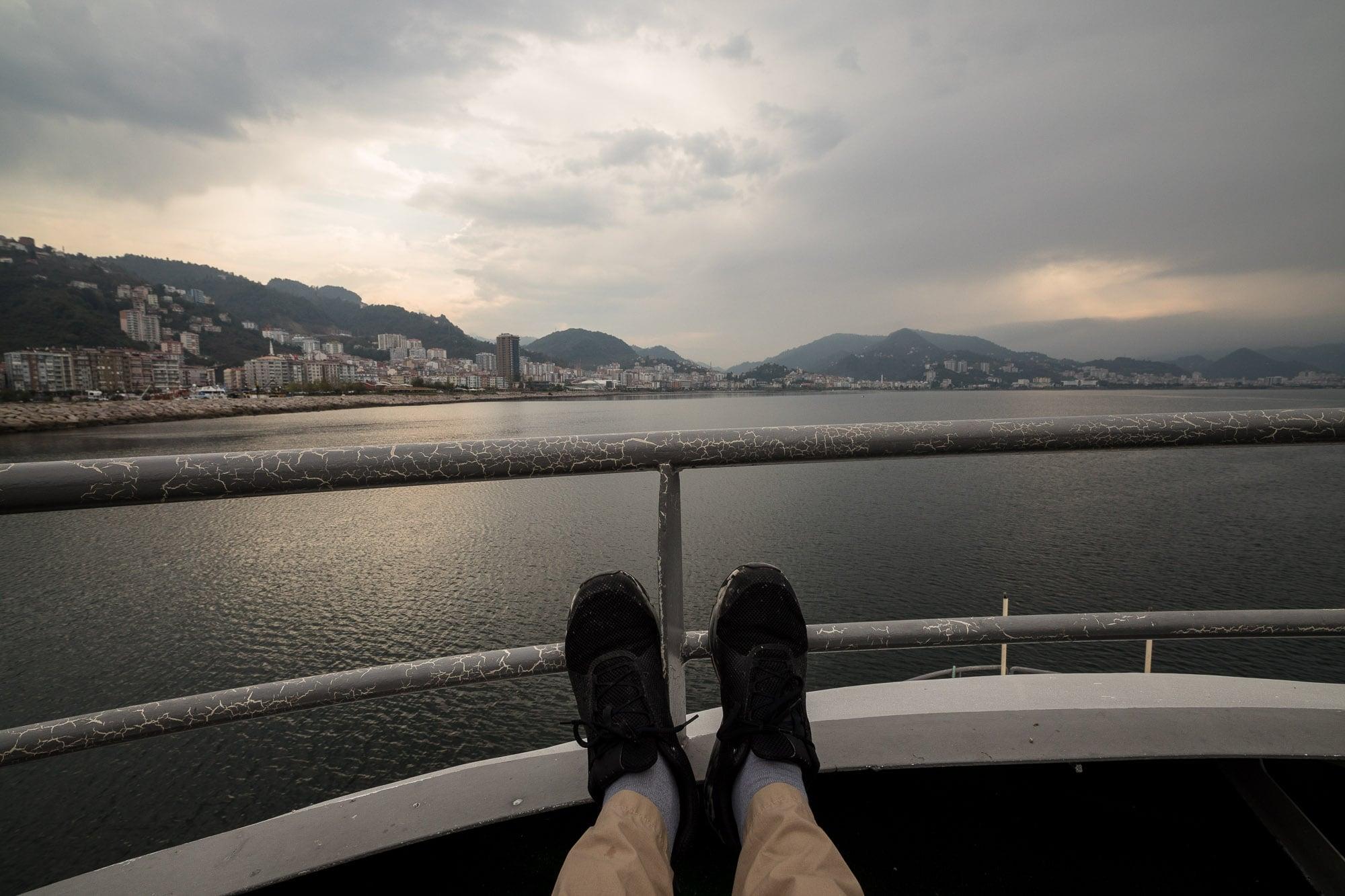 boat ride to Giresun Island