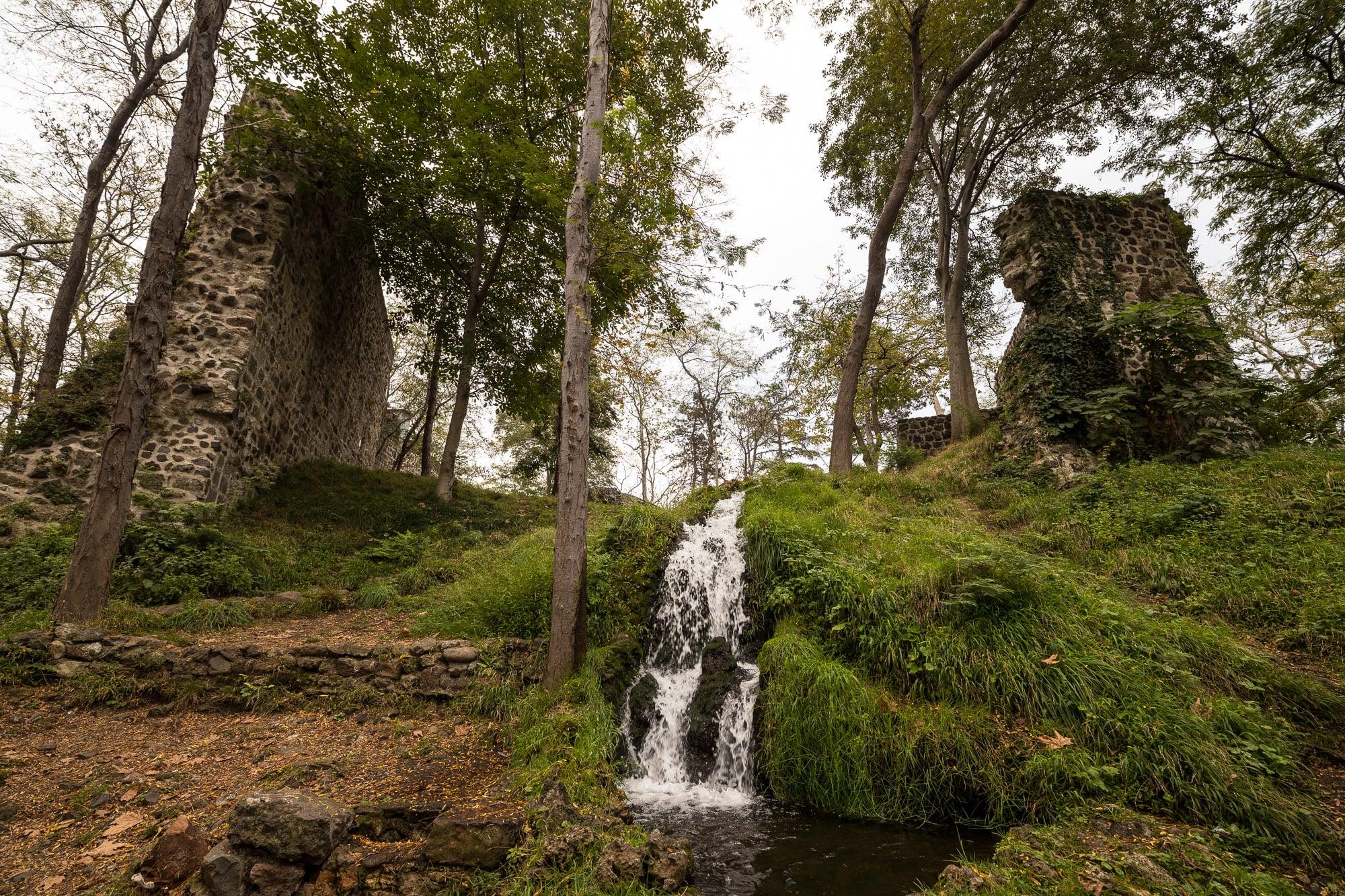 water in Giresun Castle