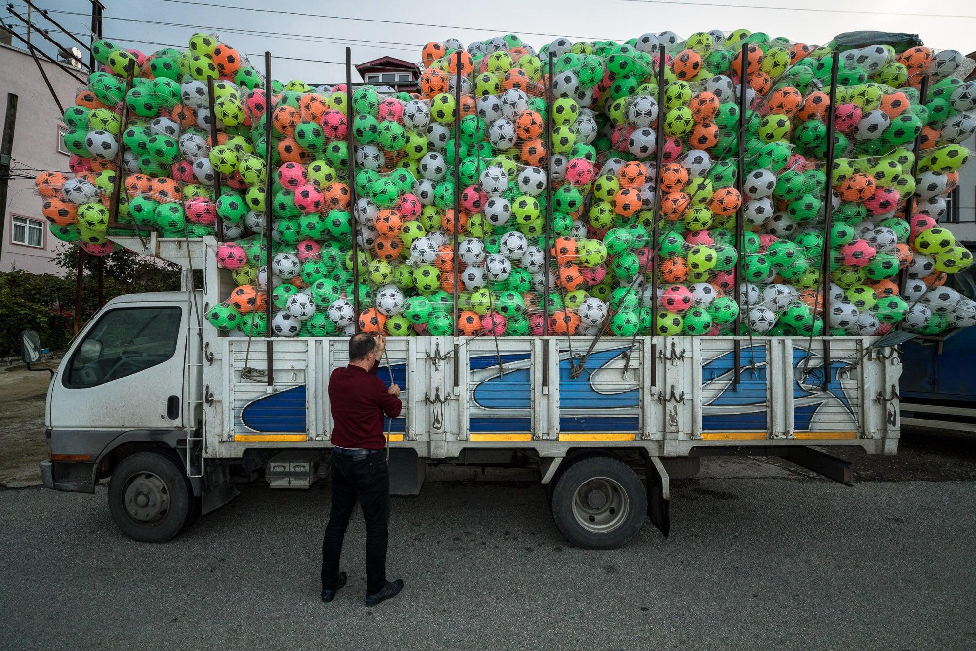 truckload of balls