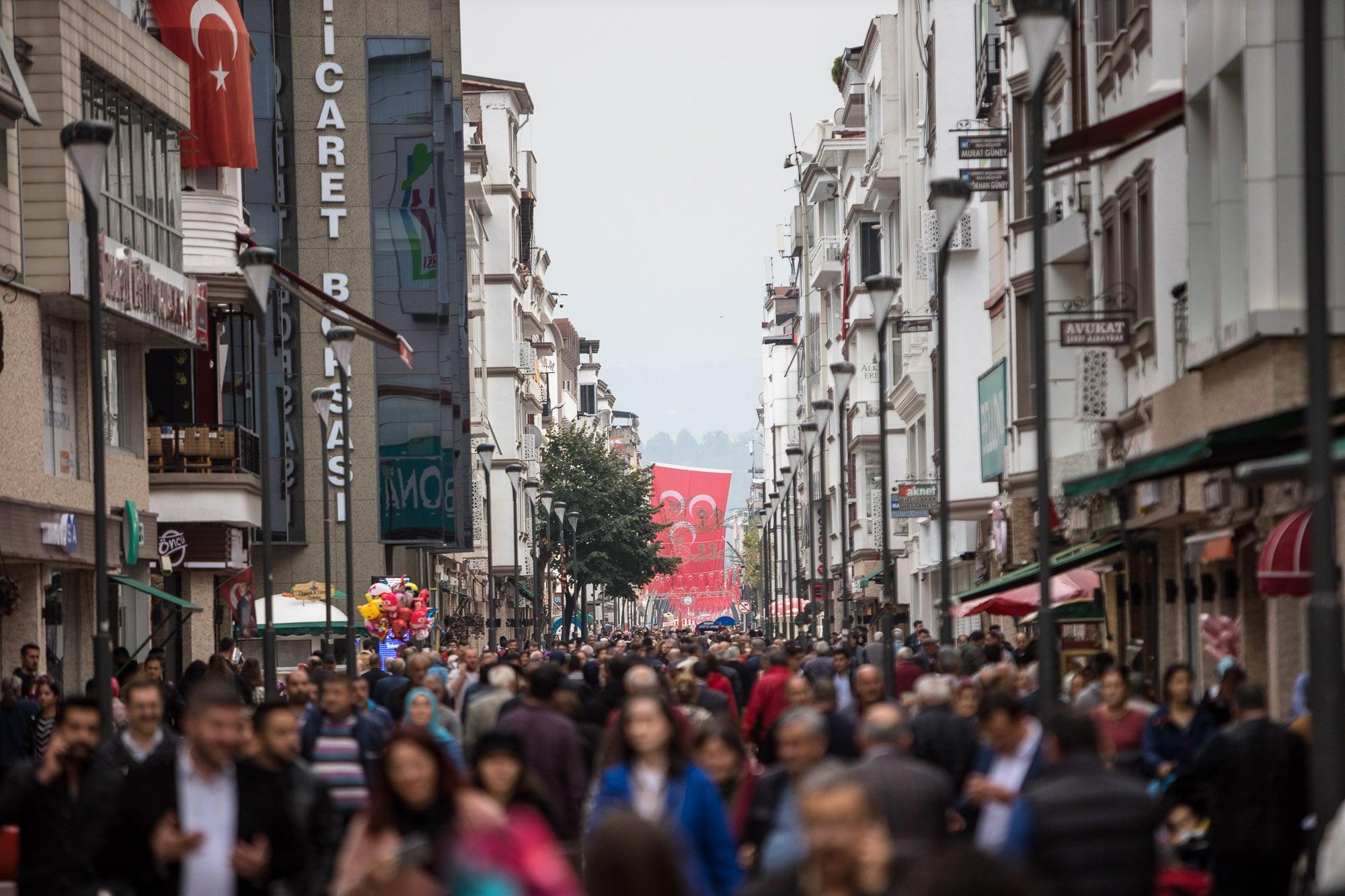 Ordu shopping street