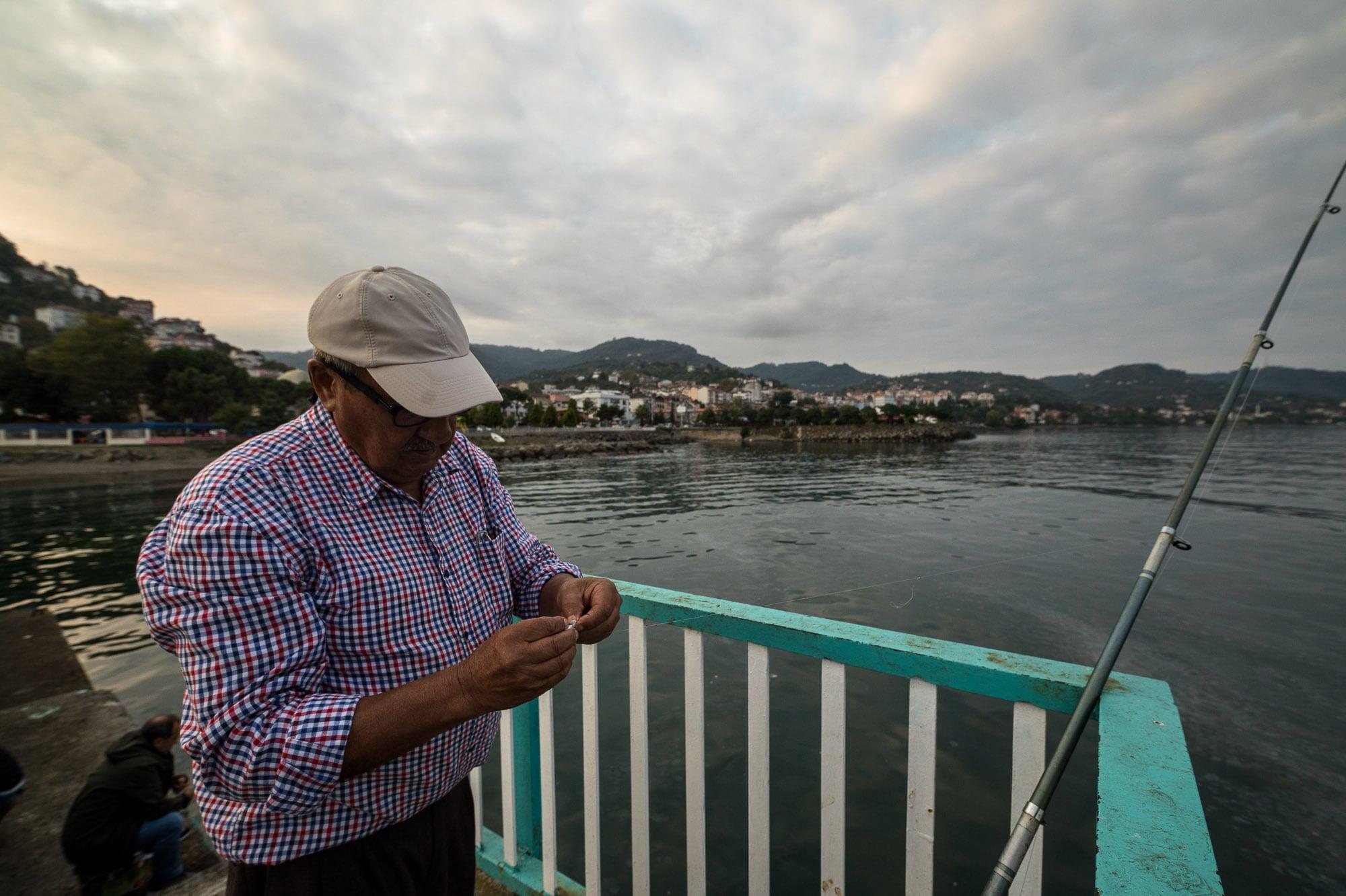 fishing man in Persembe