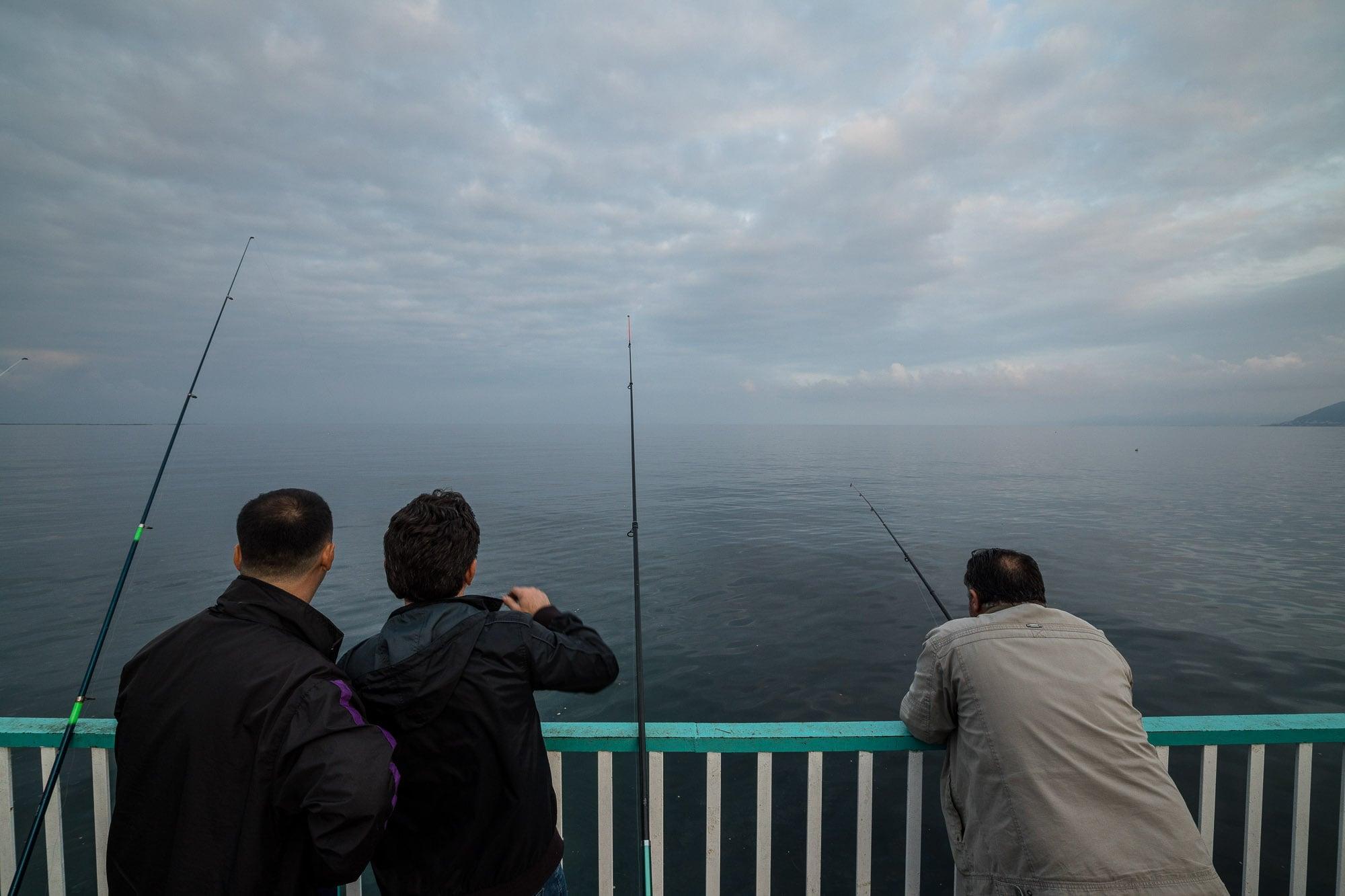 men fishing in Persembe