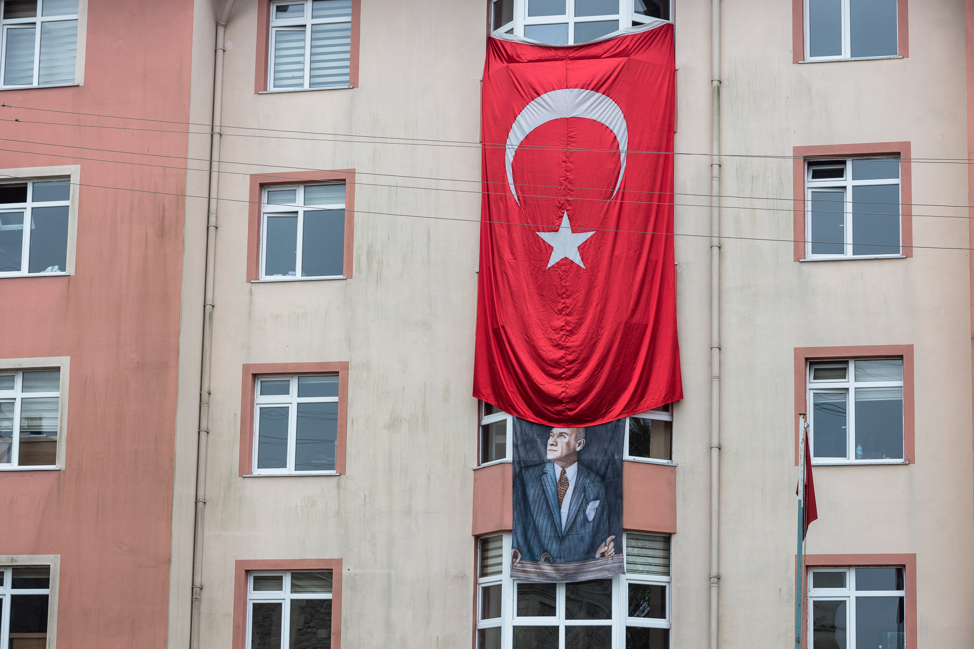 Atatürk and flag