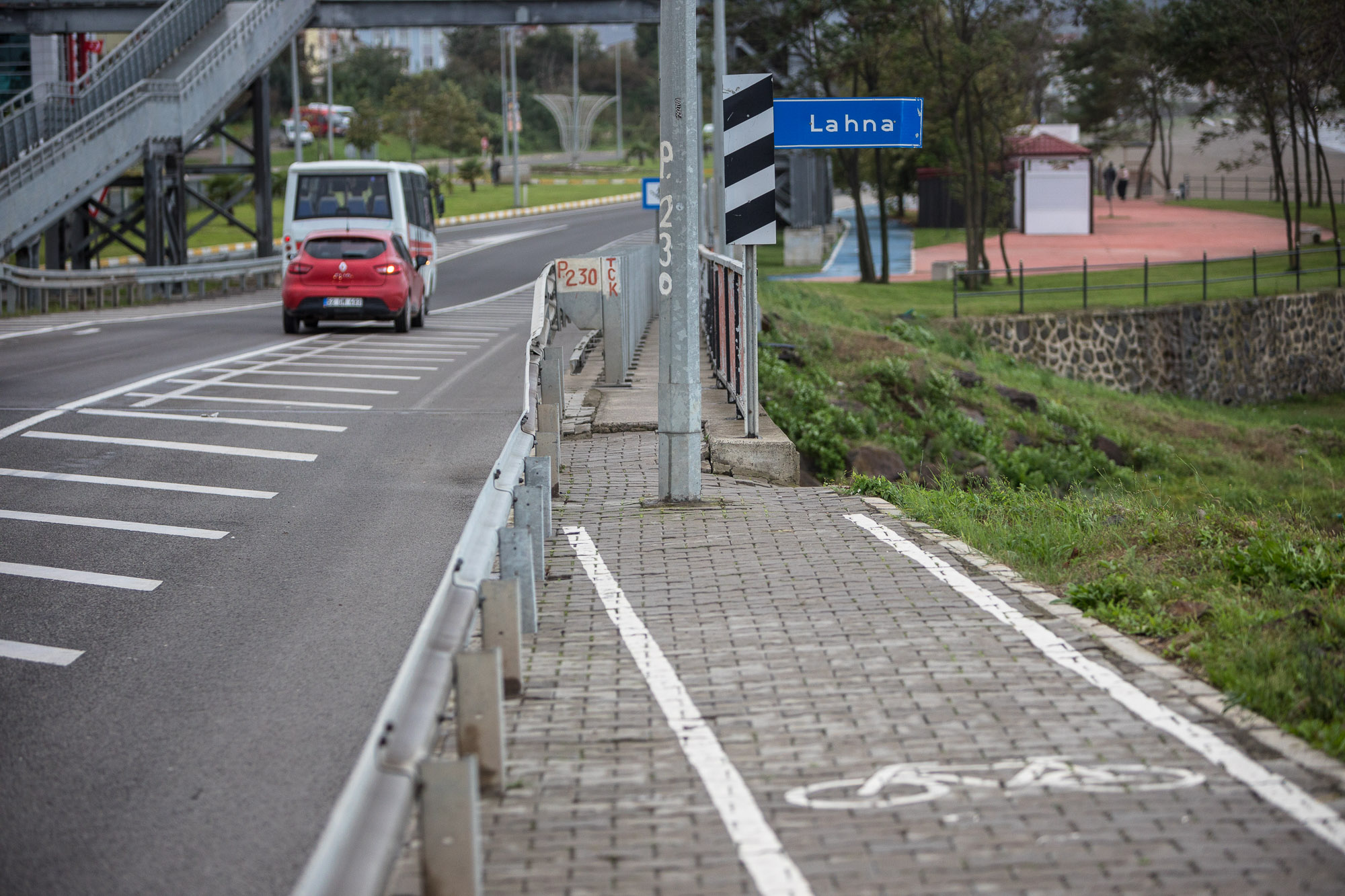 blocked bike lane in Ünye