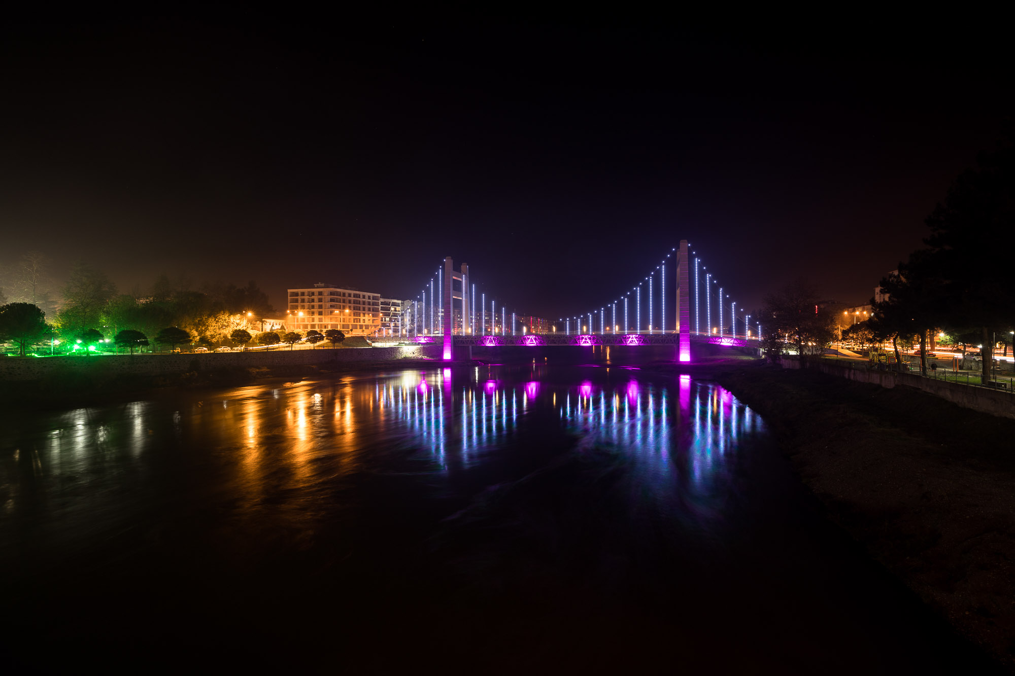 bridge in Carsamba at night