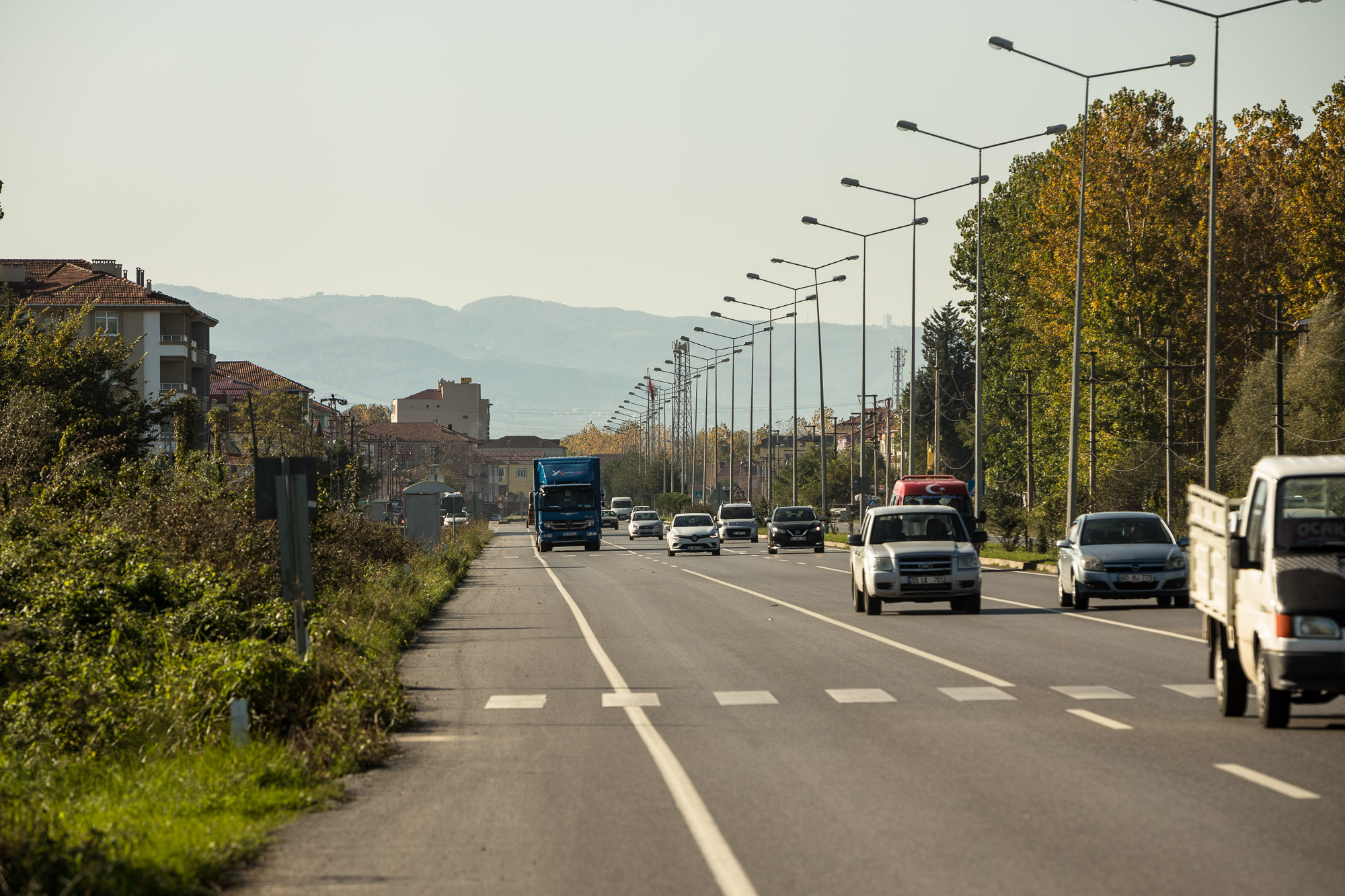 highway between Carsamba and Tekkeköy
