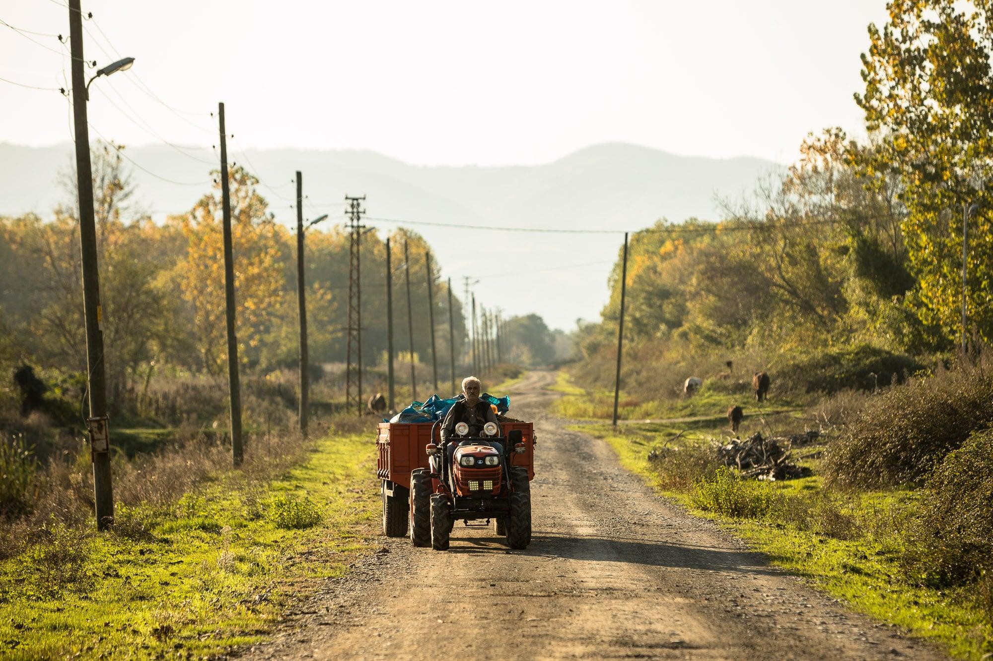 tractorist near Carsamba