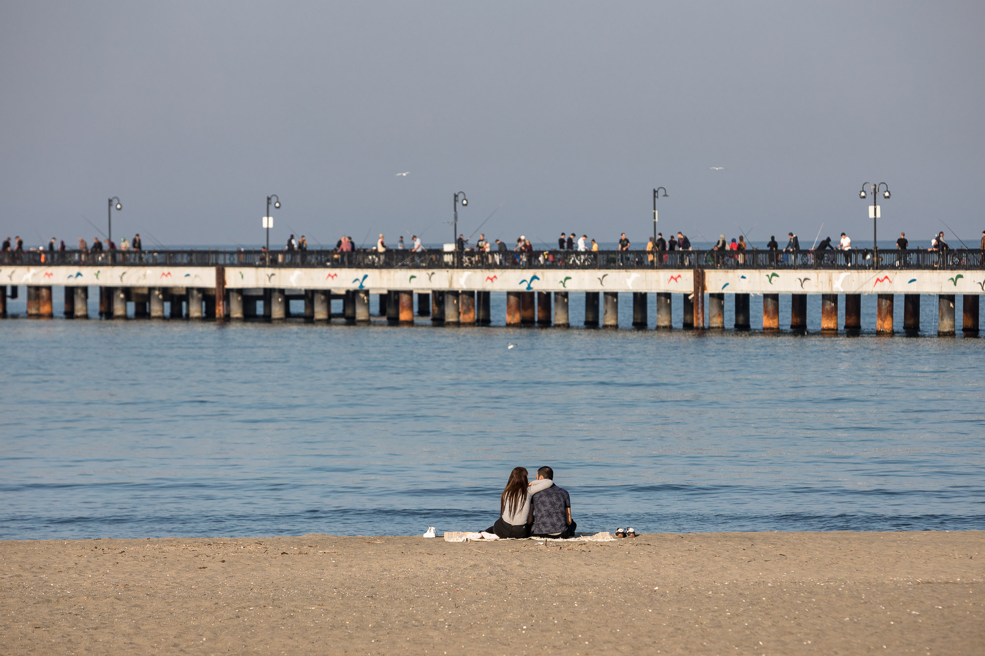 Samsun couple on the beach