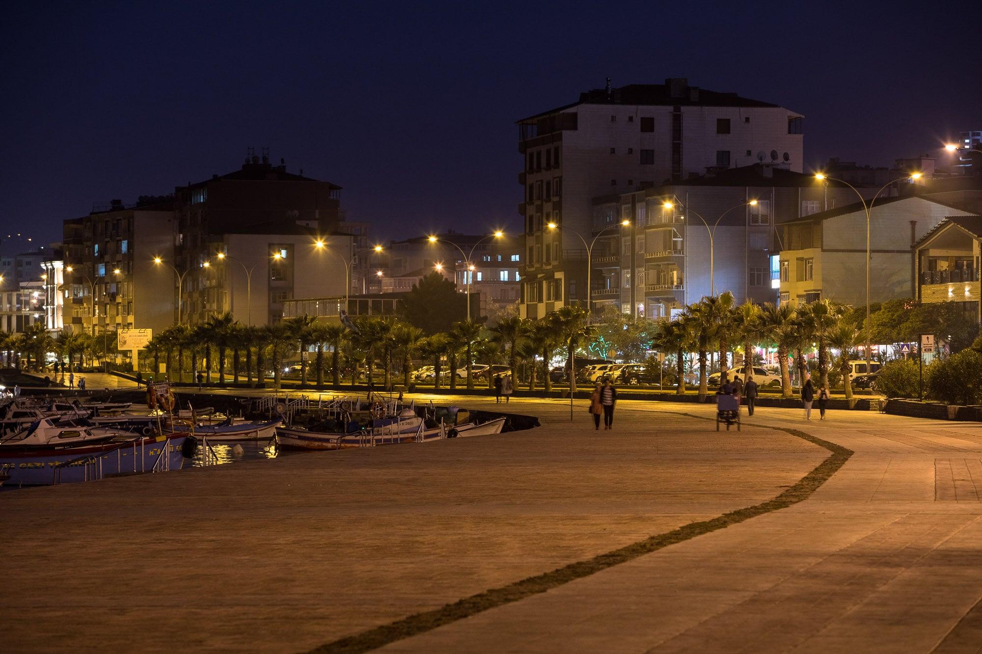 Samsun beach promenade