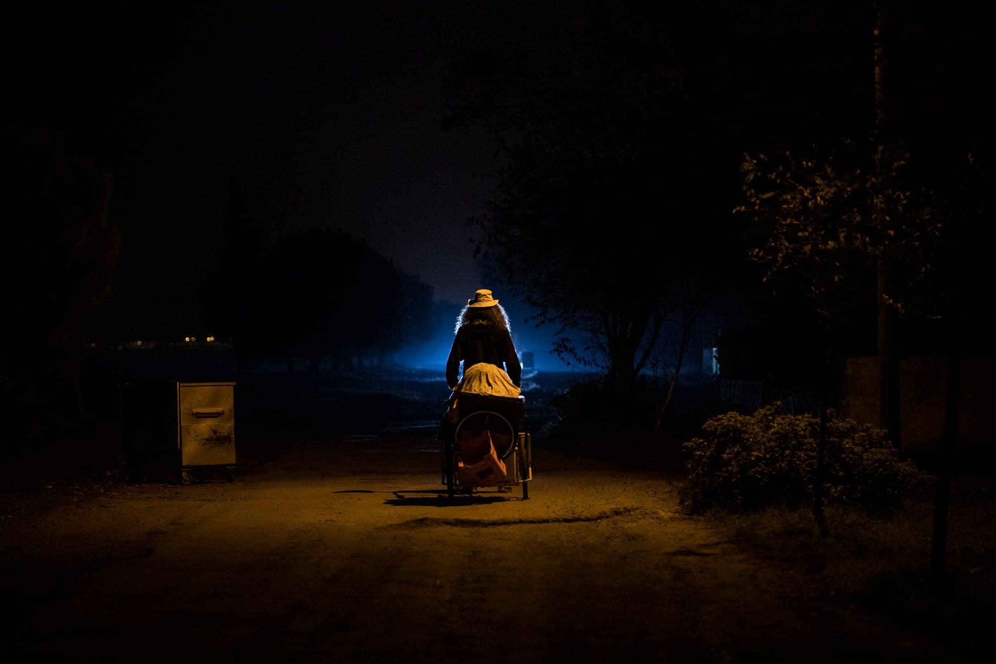 walking near Yesilyurt at night