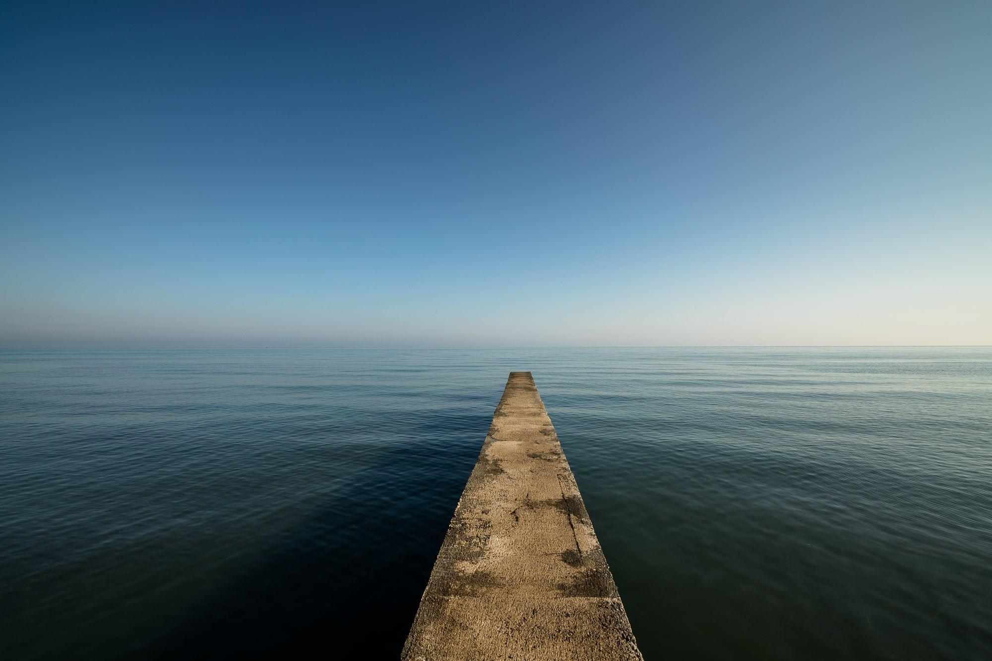 Black Sea pier near Yesilyurt