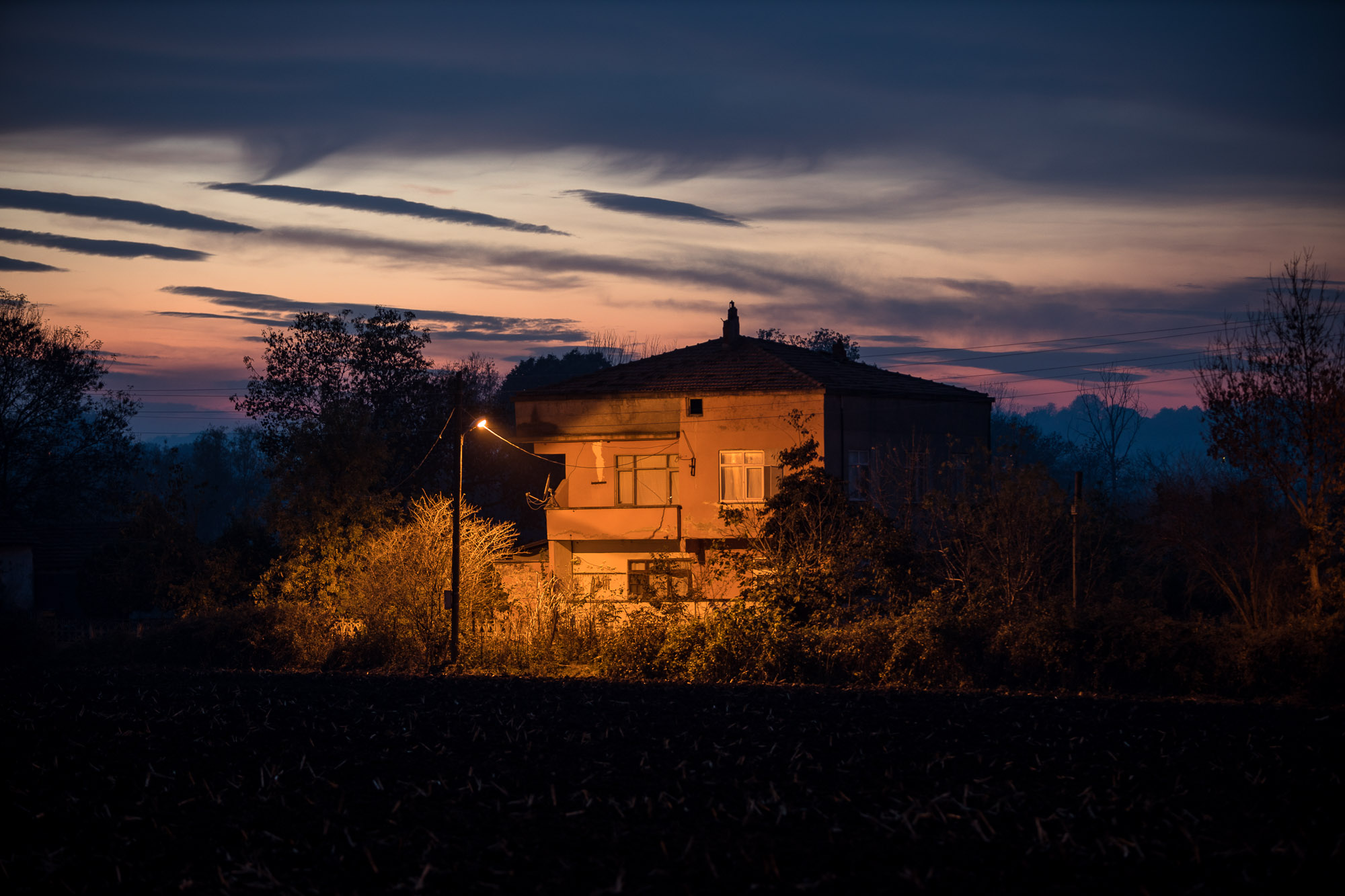 house in the darkness near Bafra