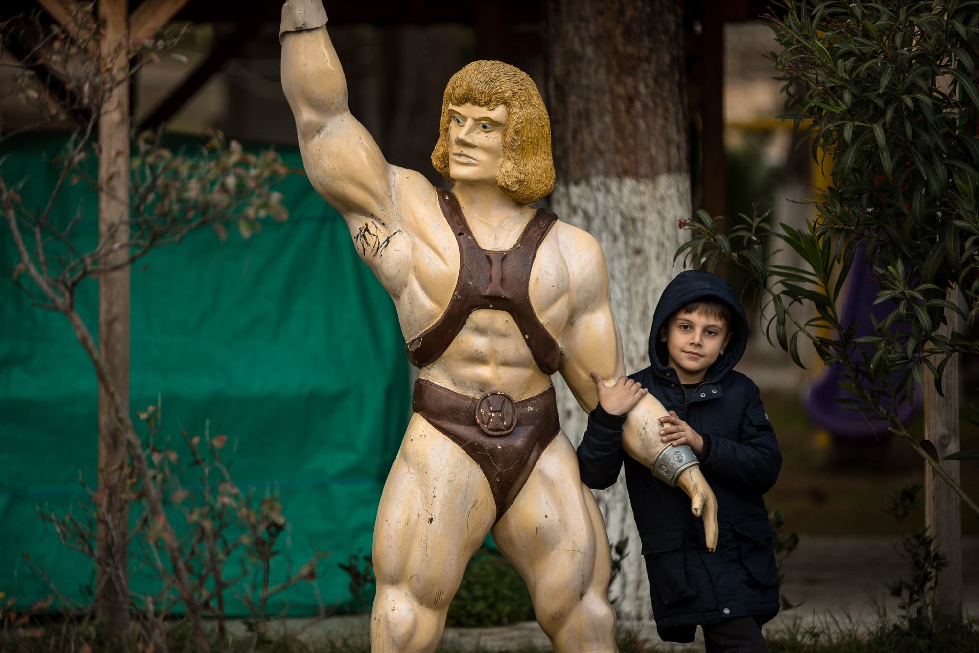He-Man with little kid