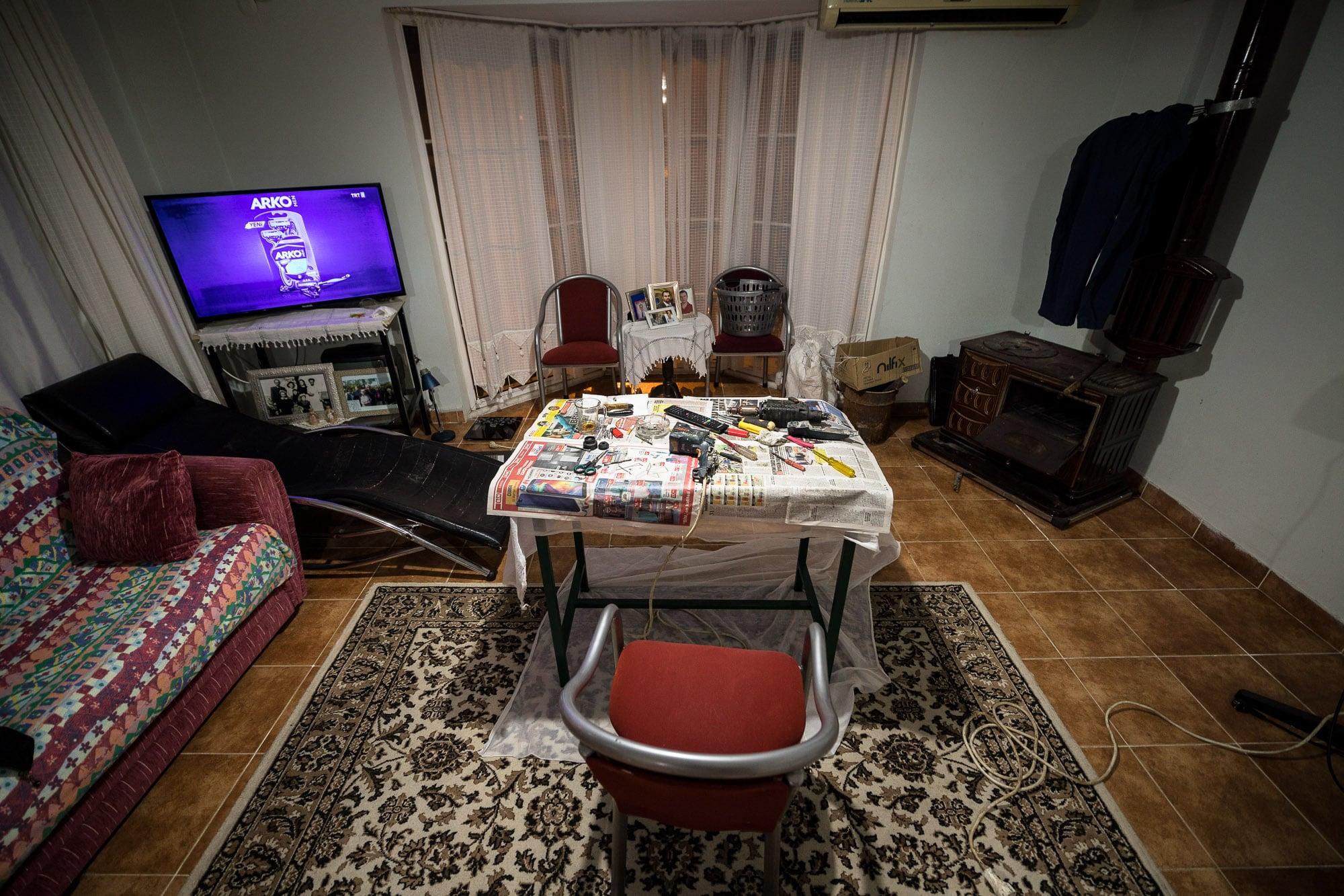 Mustafa's living room