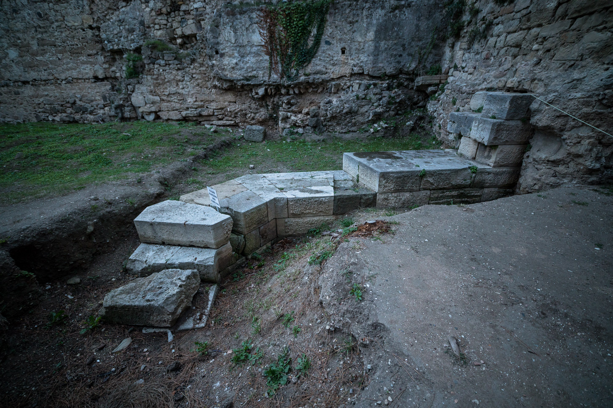 old foundations of the old prison of Sinop