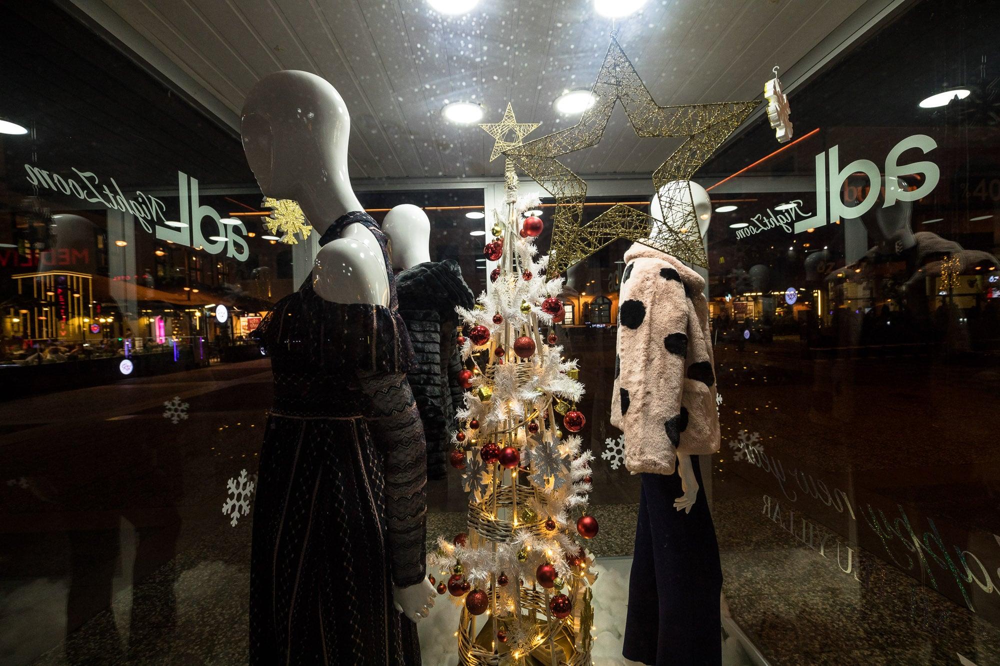 Christmas decorations in Samsun