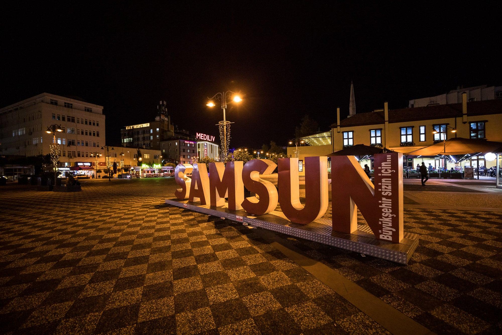 downtown Samsun shopping area