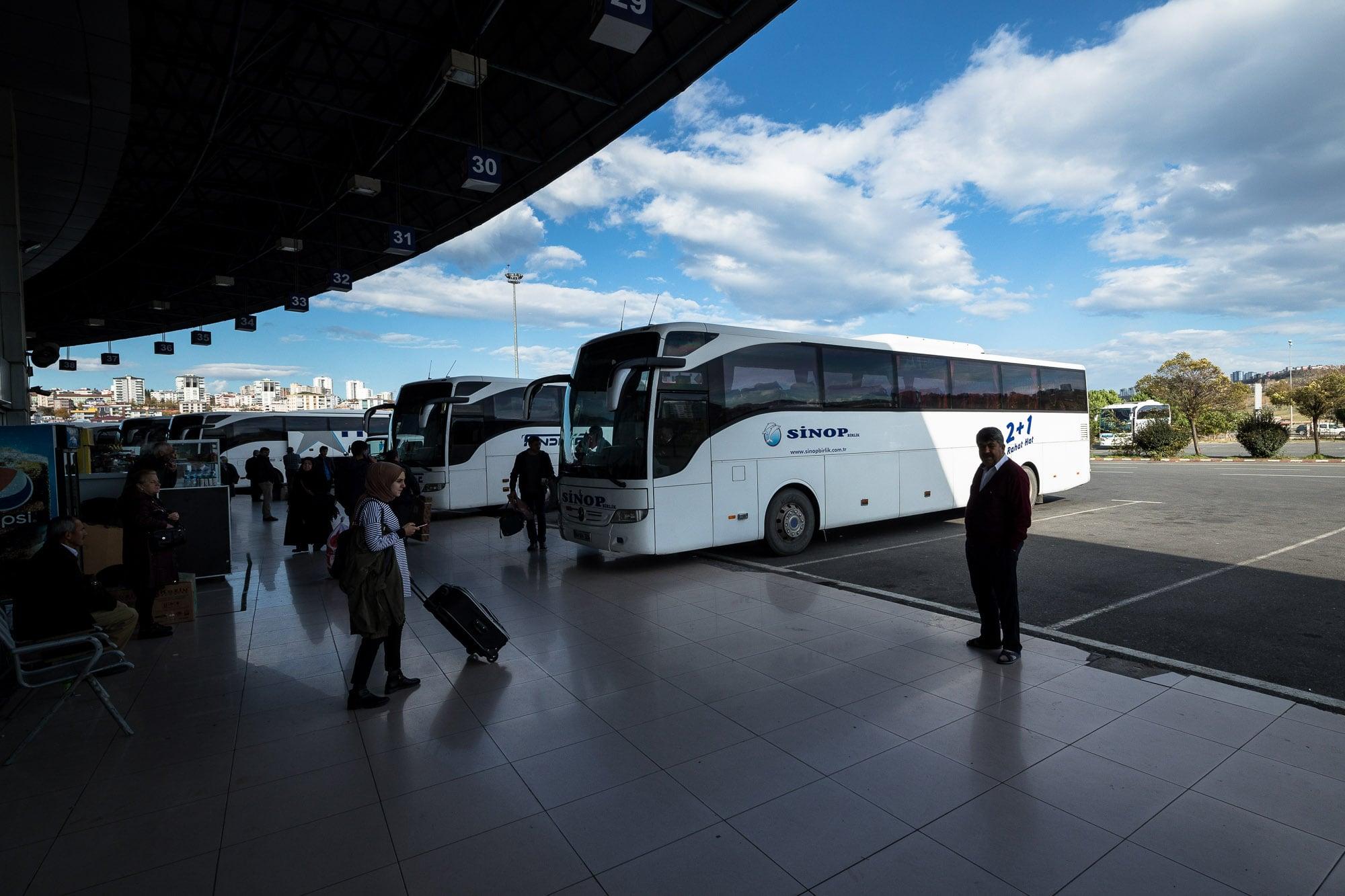 bus terminal in Samsun