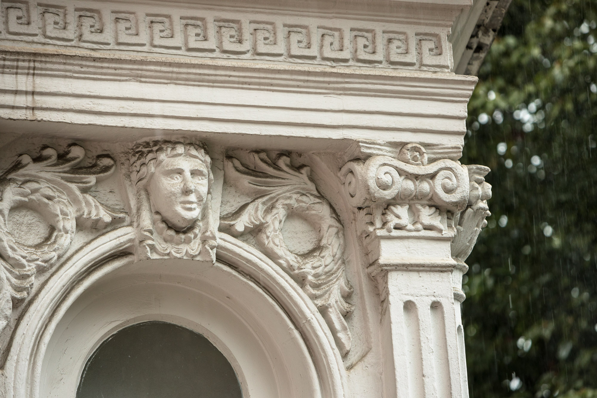 old facade in Batumi