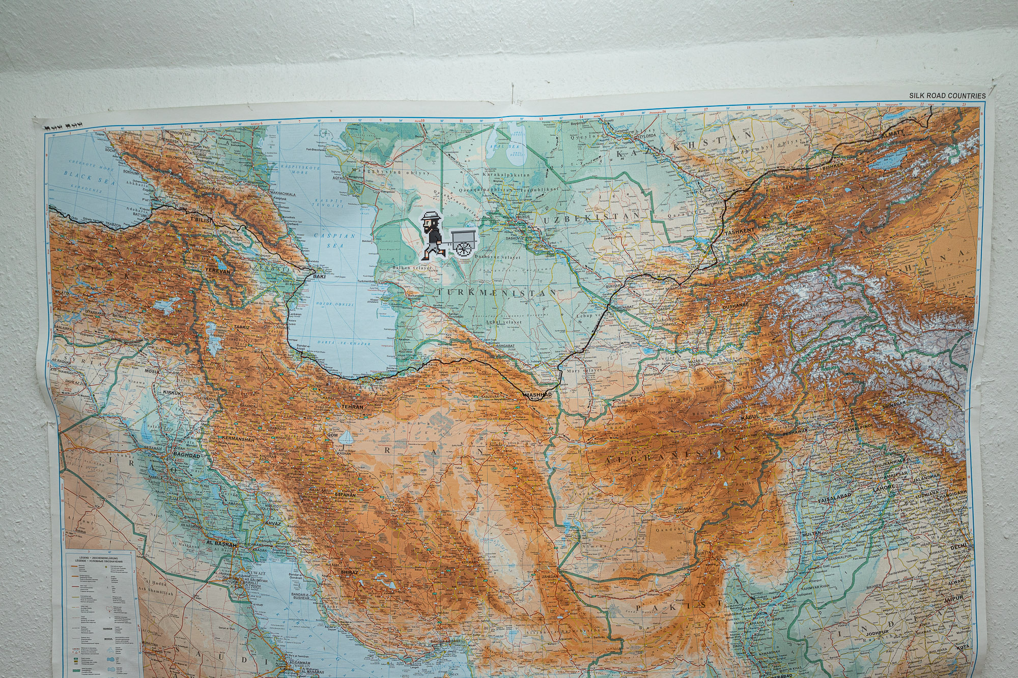 silk road map