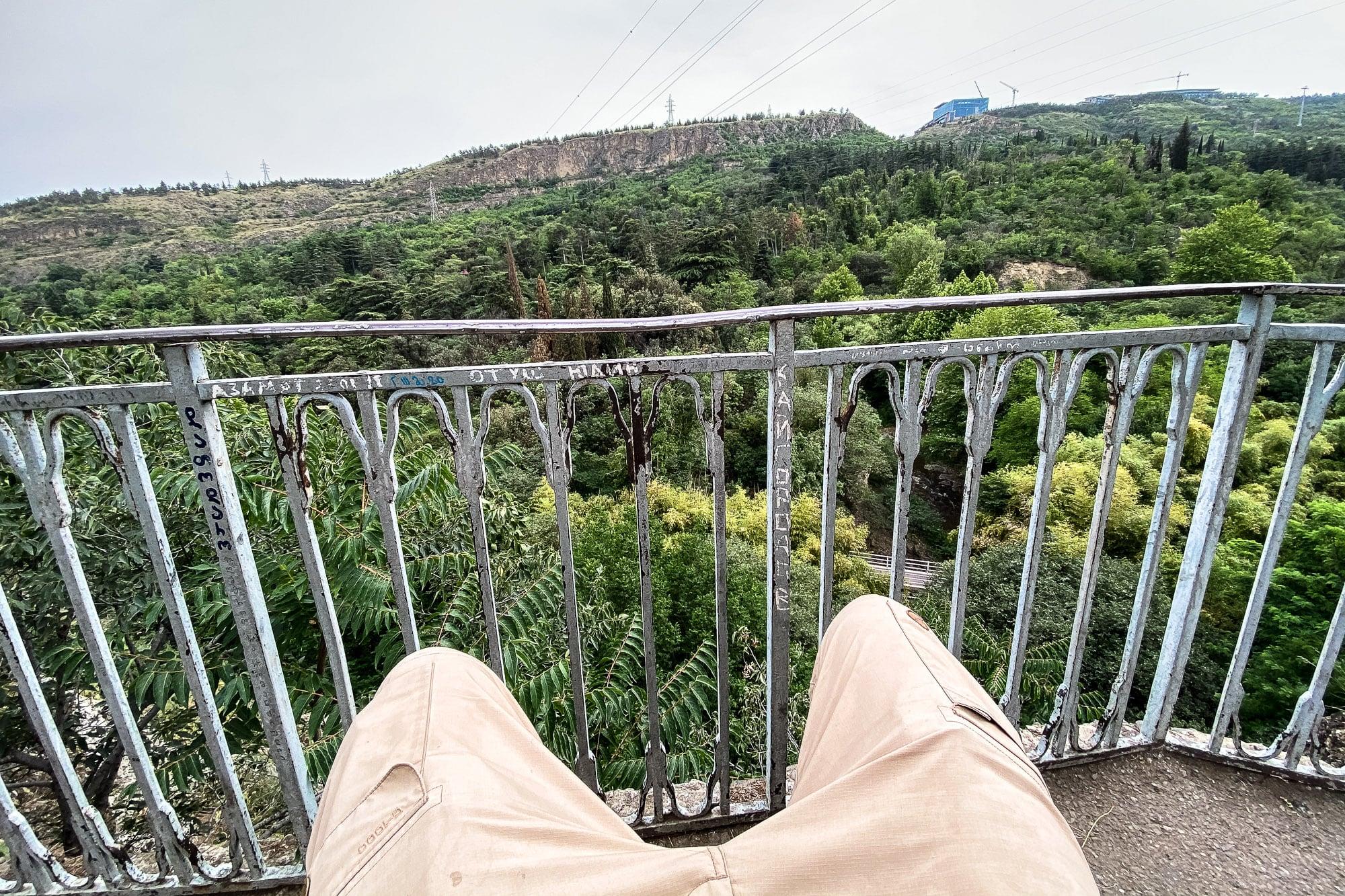 overlooking the botanical garden